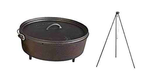 "Camp Chef Classic 14"" Pre-Seasoned Ready-to-Use Dutch Oven w"