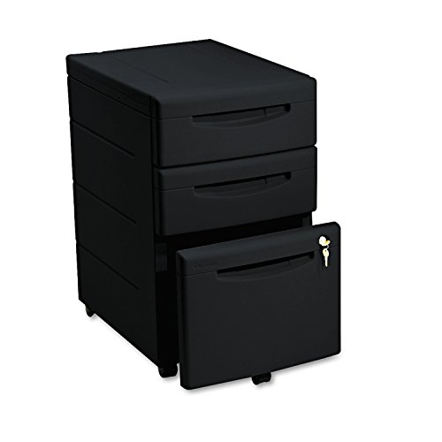 Underdesk Mobile Pedestal File - Iceberg ICE95211 Aspira High-Density Plastic Mobile Underdesk Pedestal with 3 Drawer, 16-1/2