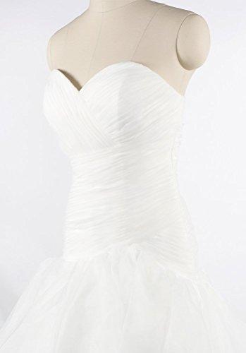 Beautiful White Luxury volant e formale Wedding con donna Pieghe 2016 Queen perline da Hot Dress xHw6YqZZ
