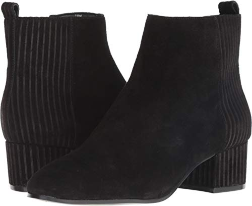 Nine West Women's LAMONTO Suede Ankle Boot, Black, 6 M US (Nine West Booties Suede)