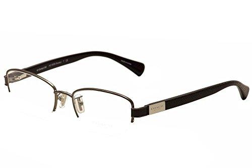 Coach Kacey 5059 Womens/Ladies Designer Half-rim Flexible Hinges Eyeglasses/Eyeglass Frame (52-18-135, Gunmetal / - Frames Metal Eyeglass Flexible