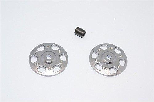 (Axial Yeti, Yeti SCORE & Yeti XL Upgrade Parts Aluminum Spur Gear Adapter - 2Pcs Set Gray Silver)