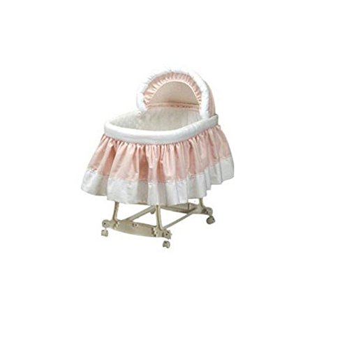 - Babydoll Pretty Pique Bassinet Liner and Hood, Pink, 13