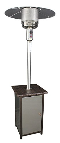 HomComfort HCPHSSWKR Patio Heater with Wicker Stand and Stai