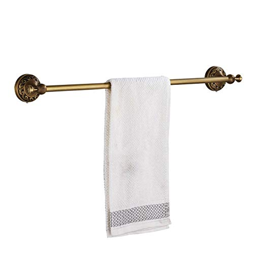 Rozin Wall Mount Bathroom Single Towel Bar Antique Brass ()