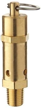 "Kingston 112CSS Series Brass ASME-Code Safety Valve, 40 psi Set Pressure, 1/4"" NPT Male"