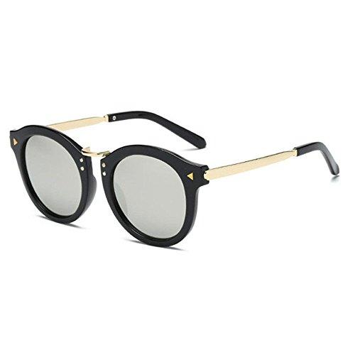 Aoligei Lunettes de soleil rétro flèche fashion tendance couleur film couleur lumineuse réfléchissant lunette de soleil MsCmXOJ8hU