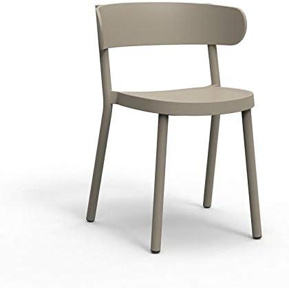 resol Set de 2 sillas de diseño Casino para Interior, Exterior, jardín - Color Arena: Amazon.es: Hogar