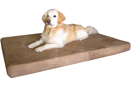 Gel Infused Orthopedic Cooling Memory Foam Dog Bed with Suede Cover By Dogbed4less