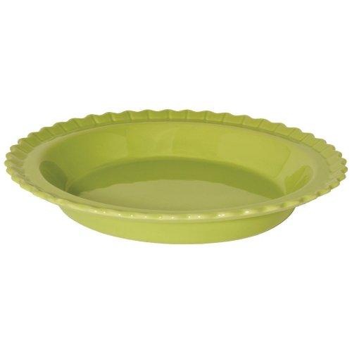 - Chantal Classic 9 Inch Pie Dish, Glossy Lime Green