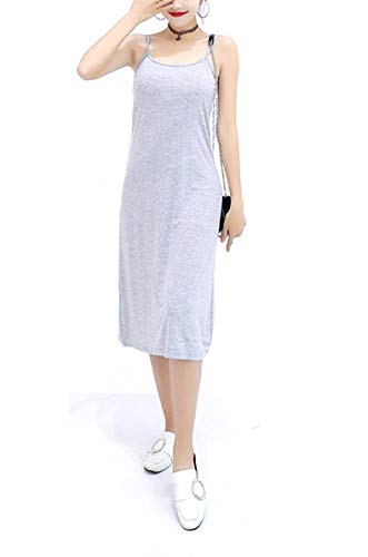 calf Womens Length Slip,O Full Slip 3 Grey Neck Anboer Nightwear Cami Modal Options Lingerie Soft Dress mid anxdFx7Iq