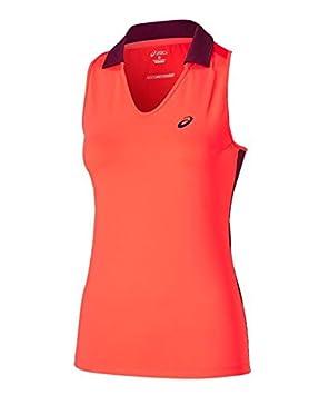 ASICS - Padel Sleeveless Polo, Color Fiery Flame, Talla M: Amazon ...