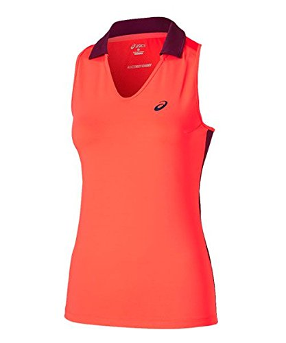 ASICS - Padel Sleeveless Polo, Color Fiery Flame, Talla M
