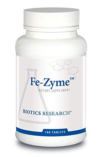 Biotics Research Fe-ZymeTM - 25 mg Iron, Added Zinc & Copper, Supports Normal Red Blood Cell Production, Healthy Energy Levels 100 Tablets