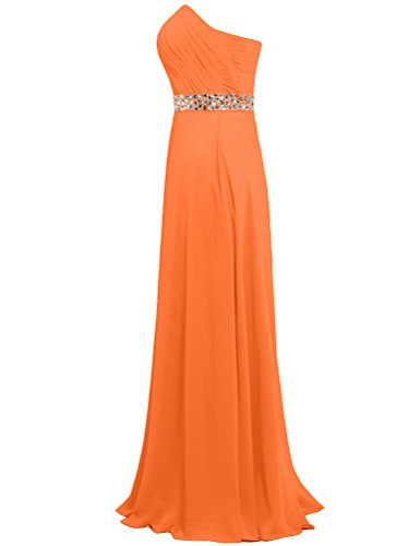 Gown Women's Chiffon Orange ANTS Party Prom Dresses Wedding Long pSg0fqwR
