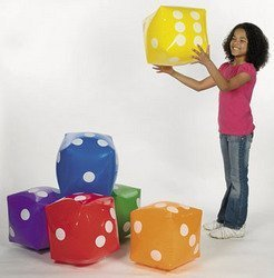 Inflatable Dice (6 pieces) - Bulk