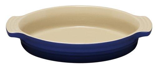 Le Creuset Stoneware 9-1/2-Inch Oval Baking Dish, Cobalt Blue