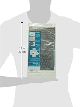01050 77 per Pack 2 Inches High Black Chartpak Self-Adhesive Vinyl Capital Letters and Numbers