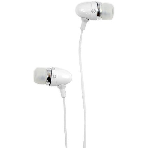 Pyle PIEHIP20W Ultra Slim In-Ear Earbud Stereo Headphones and Microphone for Cell Phone/iPhone 3G/iPod/MP3 Player (White)