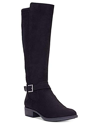 - Style & Co. Womens Luciaa Almond Toe Knee High Fashion, Black Micro, Size 6.5