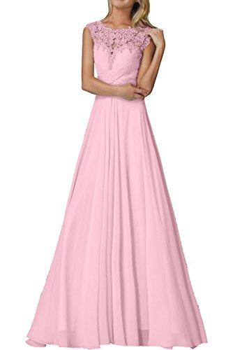 2 Rosa Festlichkleider Mit Spitze Ballkleider Braut Abendkleider Jugendweihe Chiffon mia Rosa Lang Elegant Kleider La F6HPwqE11