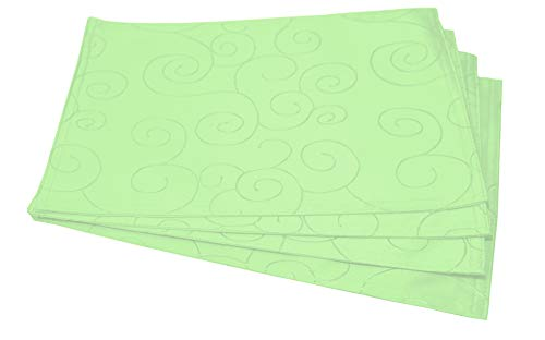 EcoSol Designs Microfiber Damask Table Placemats (12