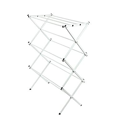 Storagemaniac Water Resistant  Drying Rack, 41 Inch, White