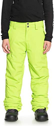 QUIKSILVER Boys' Big Estate Youth 10K Snow Pants, Lime Green, 14/XL (Green Pants Lime Snow Boys)