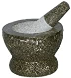Thai Super-Size Granite Mortar and Pestle 9''