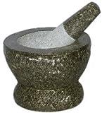 Thai Super-Size Granite Mortar and Pestle 9''