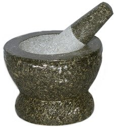 Thai Super-Size Granite Mortar and Pestle 9'' by Thailand