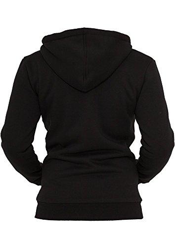 tb396Ladies Zip Capucha de invierno chaqueta mujer Sudadera Blk/Wht