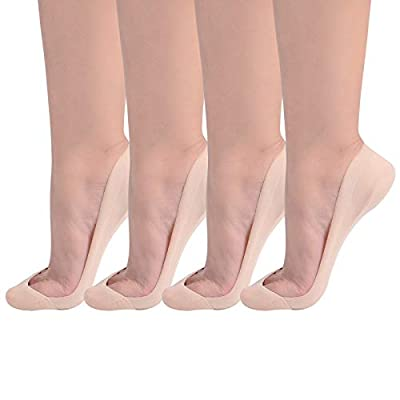 Flammi Women's TRULY No Show Socks for Flats Non Slip Ultra Low Cut