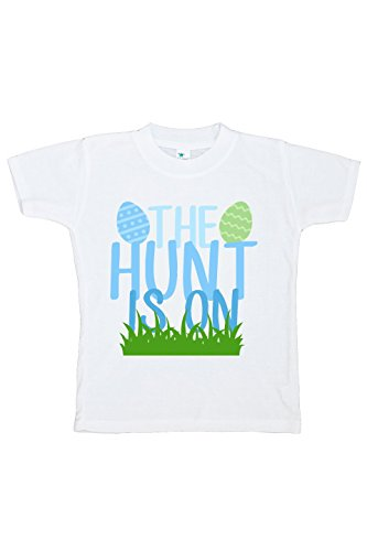 Custom Party Shop The Hunt Is On Boy's Novelty Easter Tshirt 5/6T Green and Blue