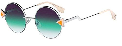 New Fendi RAINBOW FF 0243/S VGV/QC silver orange/violet green shaded Sunglasses