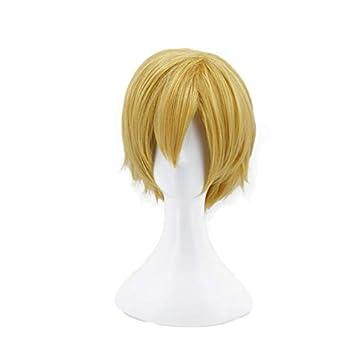 Ani·Lnc short Yellow Men Cosplay Hair Wigs