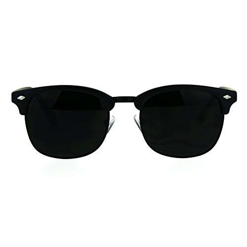 Mens Half Horn Rim Hipster 20s Classic Sunglasses Matte - 1920s Glasses Mens