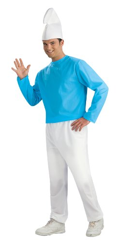 Smurf Costume For Adults (Adult Smurf Costume, Blue/White, Standard)