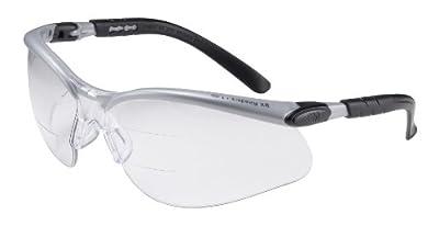 3m BX Dual Reader Protective Eyewear, Anti-Fog Lens, Silver/Black Frame
