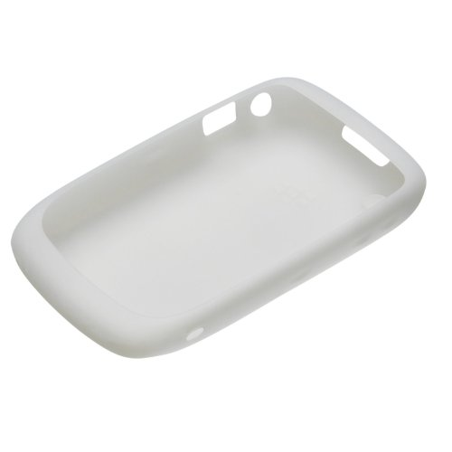 OEM RIM Blackberry WHITE Silicone Case Rubber Gel Skin Cover for Curve ()