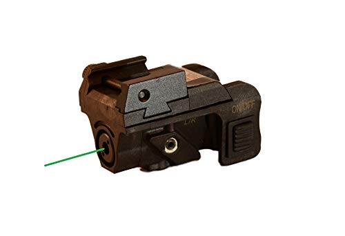Pistol Green Laser Sight (USB RECHARGEABLE) for Subcompact and Compact Pistols by HiLight, Model P3G (Adjustable Pistol Sights)