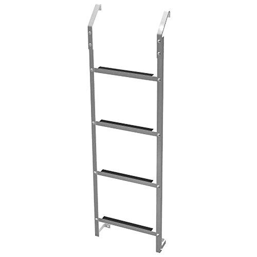 Aluminum Assist Steps - Basement Window 4-Step Aluminum Emergency Escape Ladder with 200 lb. Weight Capacity