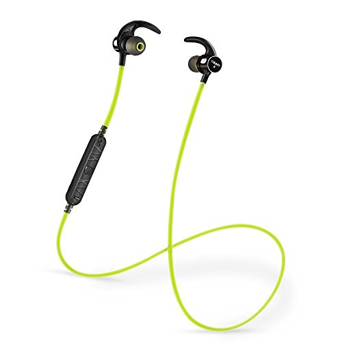 Bluetooth Wireless Headphones - 4.1 Magnetic Earbuds Rechargeable with Built in Mic/Volume Control, Best Sweatproof Sports Earphones In Ear Headset For Gym Running(Black)