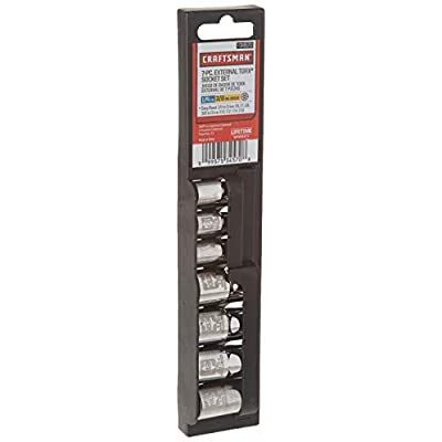 Craftsman 9-34570 External Torx Socket Set with1/4 and 3/8-Inch Drive, 7-Piece: Home Improvement