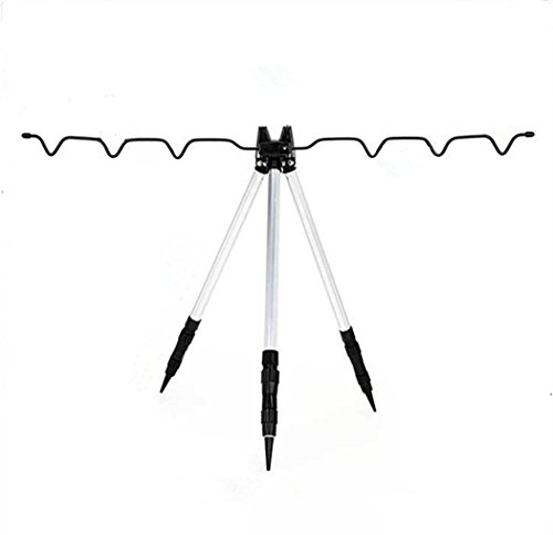Toasis Fishing Rod Holder Aluminum Alloy Telescopic Tripod Stand for Fishing Poles
