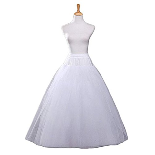 Nicolife A-line Hoopless Petticoat Crinoline Underskirt Slips for Bridal Wedding Dress by Nicolife