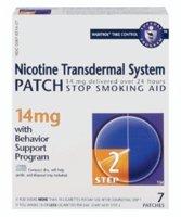 Novartis Nicotine Transdermal System Stop Smoking Aid Patch, Step 2, 14 mg - 7 ()