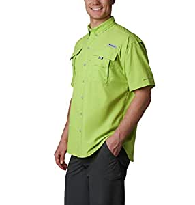 Columbia Men's Bahama Ii Short Sleeve Shirt, Green Glow, X-Small