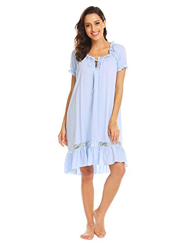 (Tenniser Little Girls Cute Nightgown Lace Bowknot Nightdress Sleepwear Pajamas)