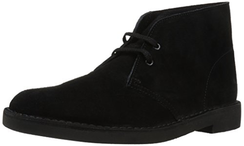 Desert Leather Footwear - Clarks Men's Bushacre 2 Chukka Boot,Black Suede,9 M US